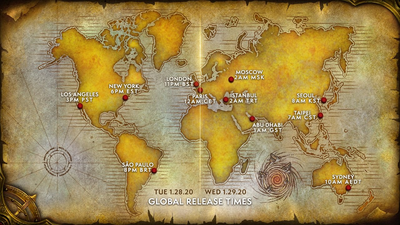 This handy graphic shows exactly when Warcraft 3: Reforged will be available worldwide.