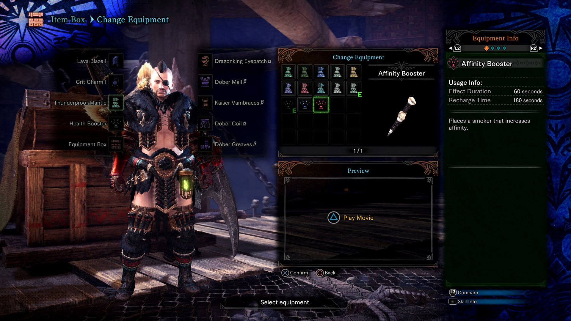 Affinity Booster Monster Hunter World
