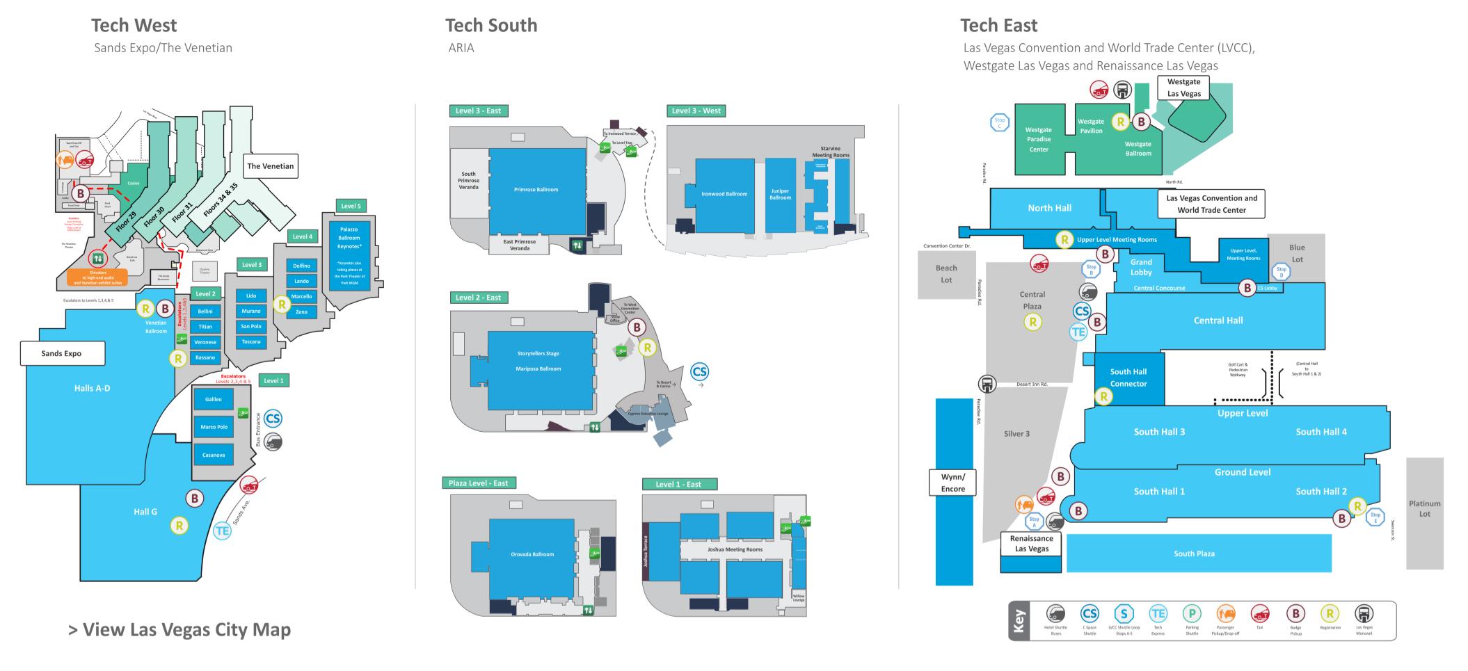 CES 2020 Floor plan