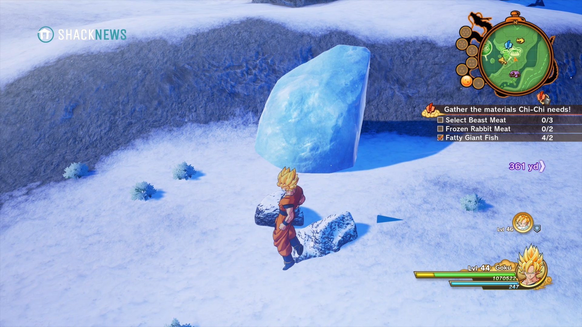 Dragon Ball Z: Kakarot - Frozen Rabbit Meat locations