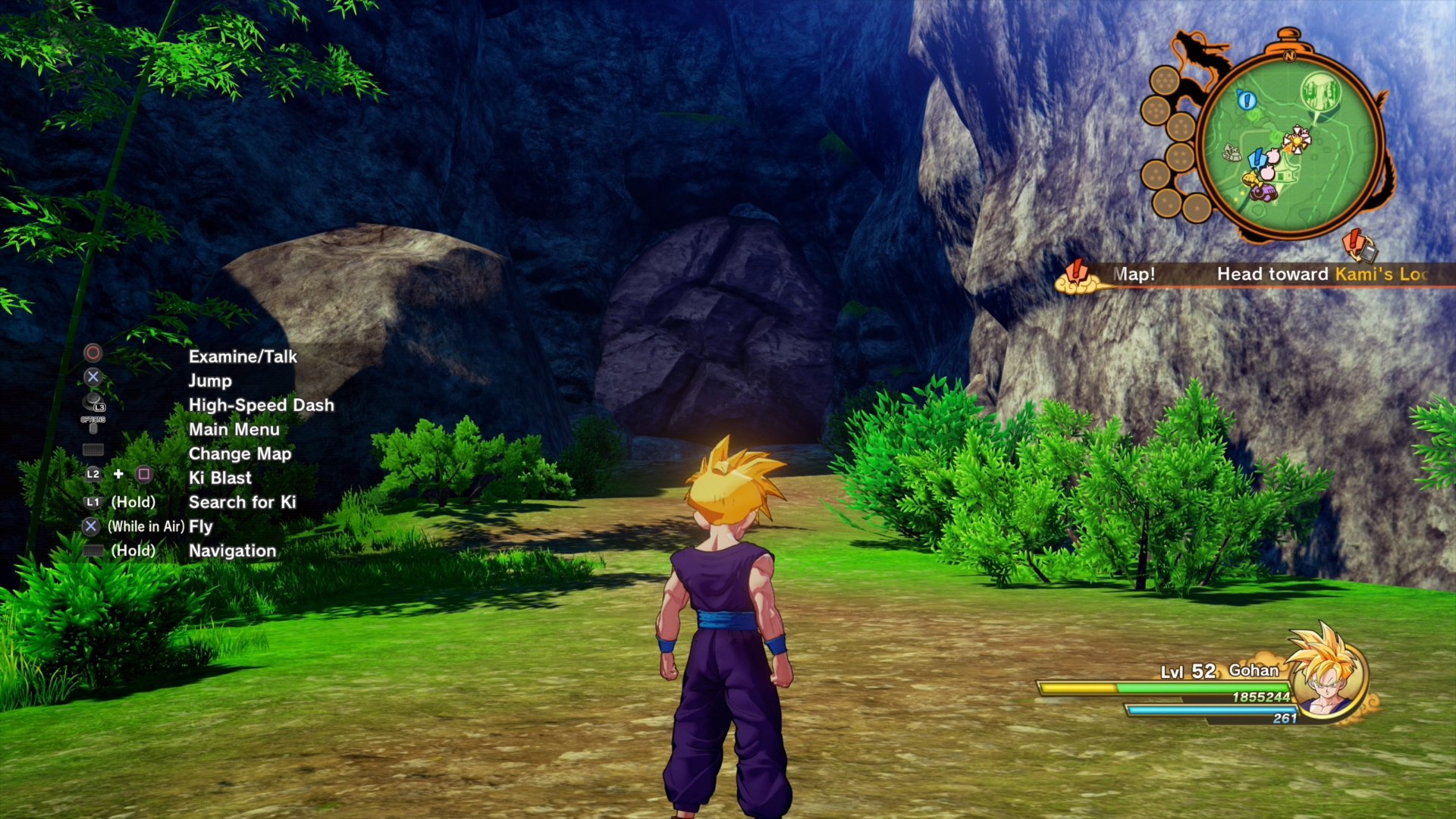 Dragon Ball Z: Kakarot - Katchin entrance