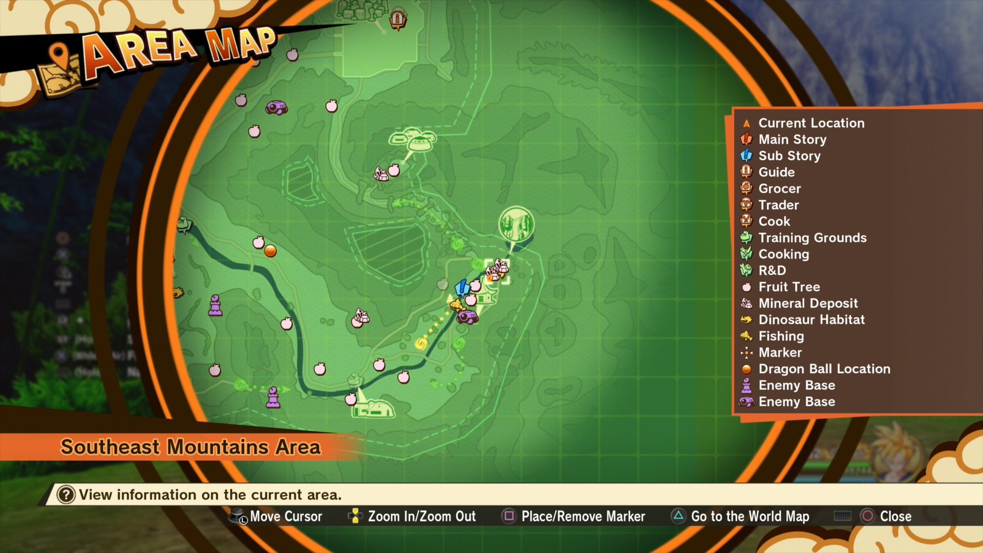 Katchin locations on map - DBZ Kakarot