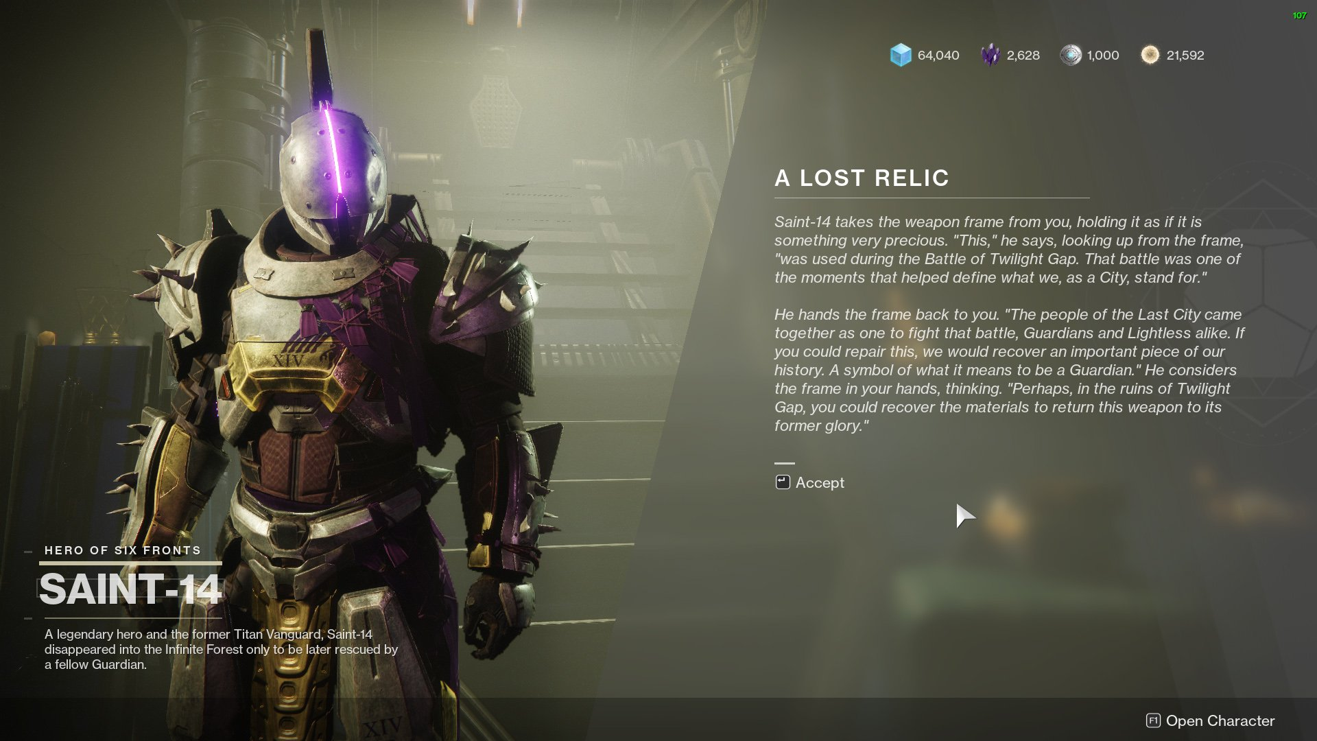 Destiny 2 A Lost Relic