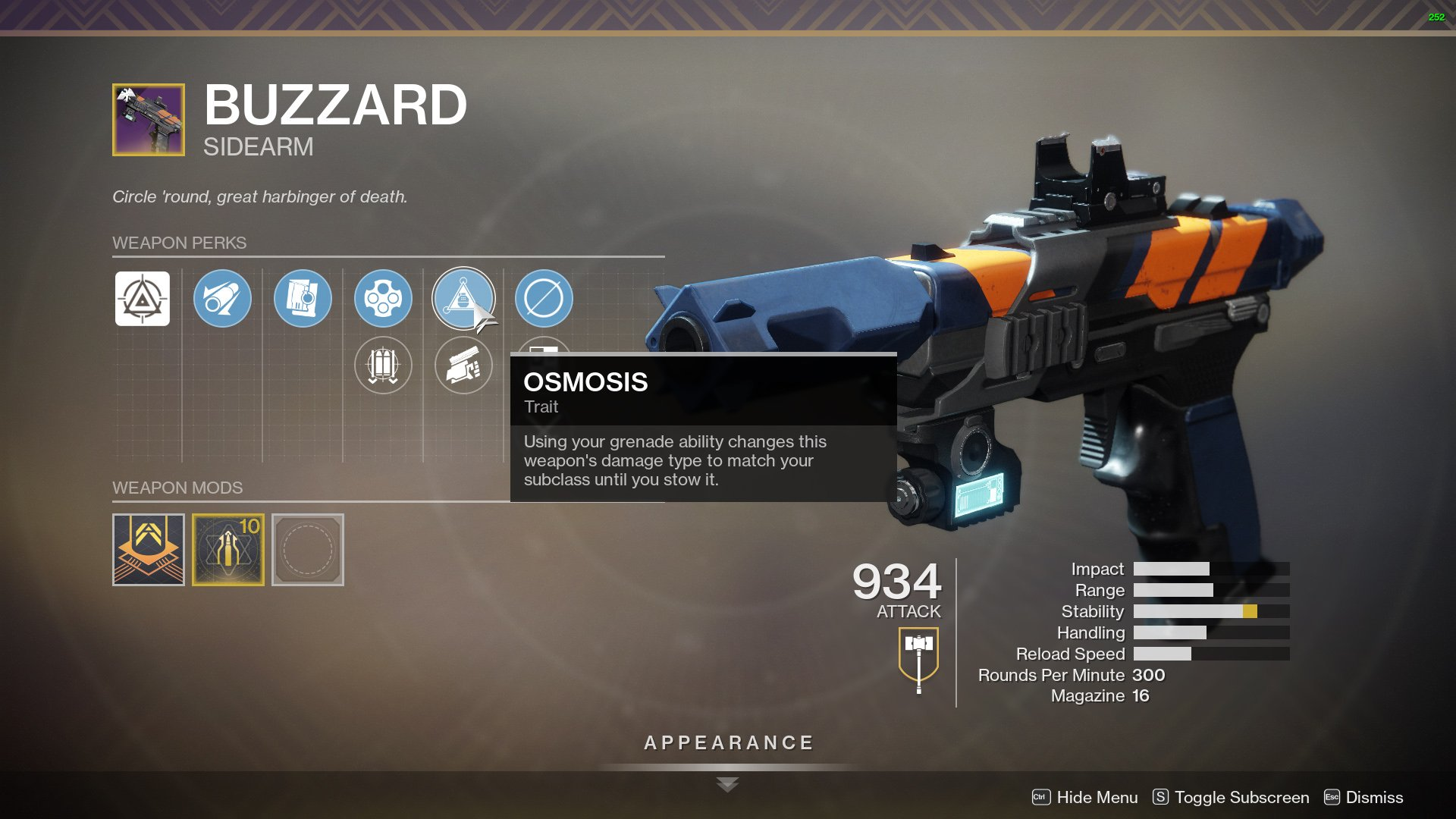 Destiny 2 buzzard perks