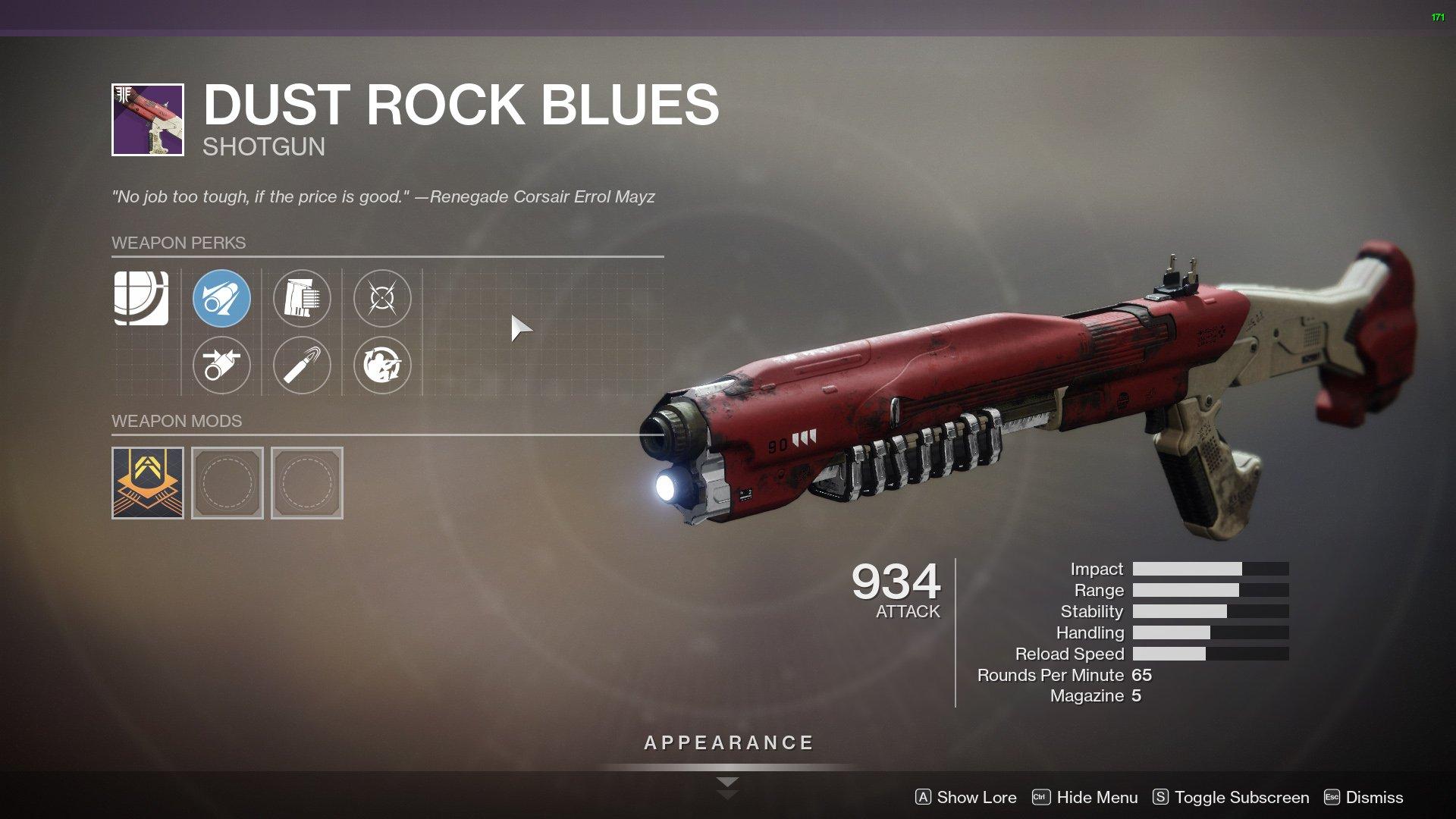 destiny 2 dust rock blues