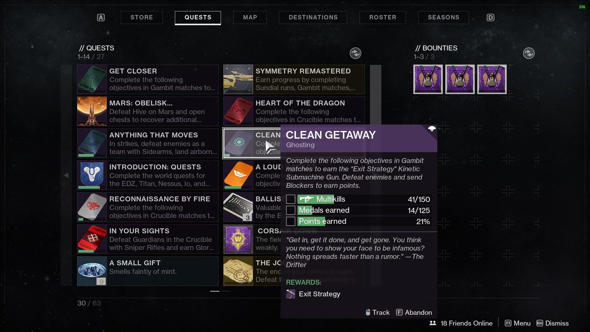 Destiny 2 Clean Getaway quest Exit Strategy