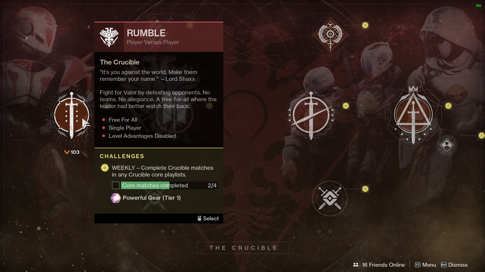 Destiny 2 Crucible Rumble