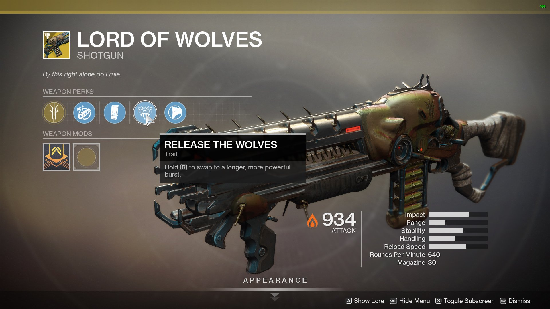 Destiny 2 Lord of Wolves