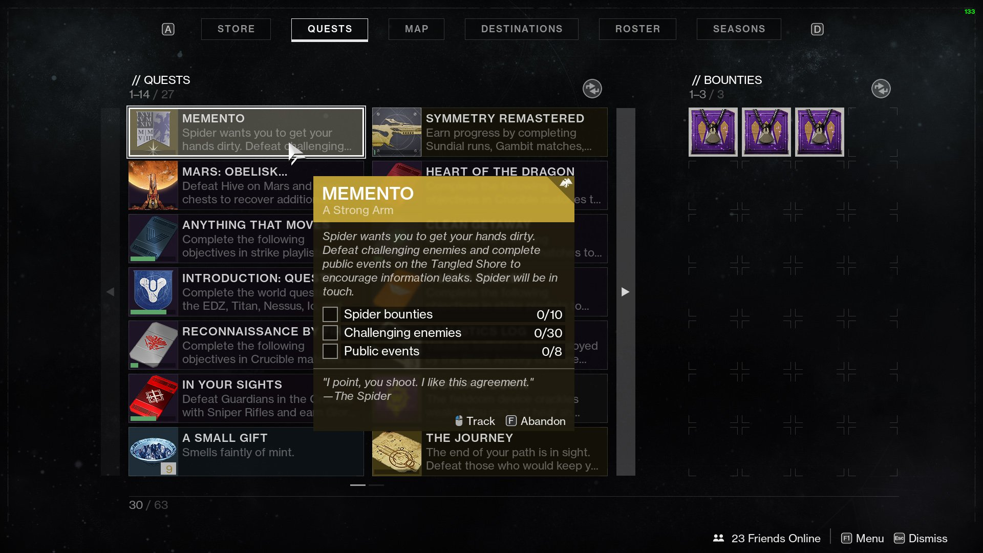 destiny 2 memento a strong arm