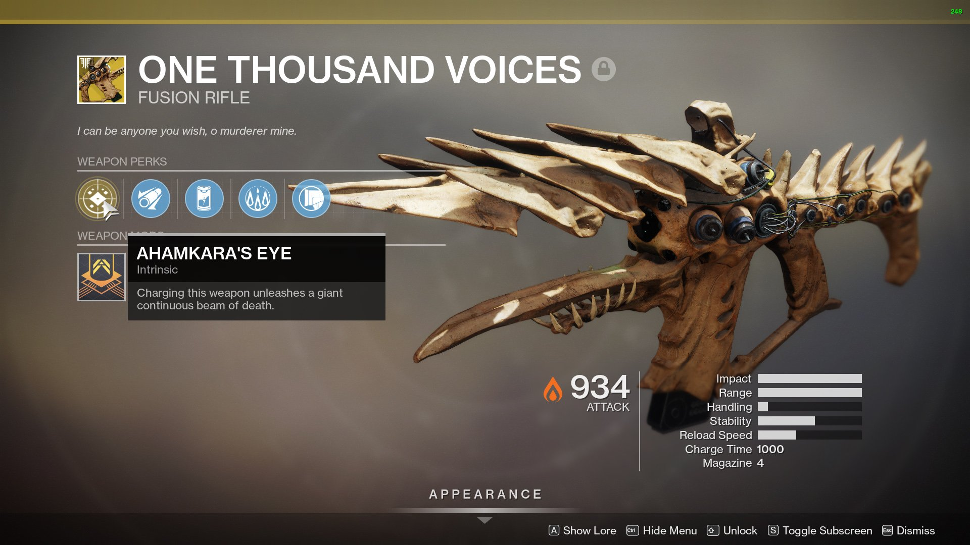 Destiny 2 One Thousand Voices perks
