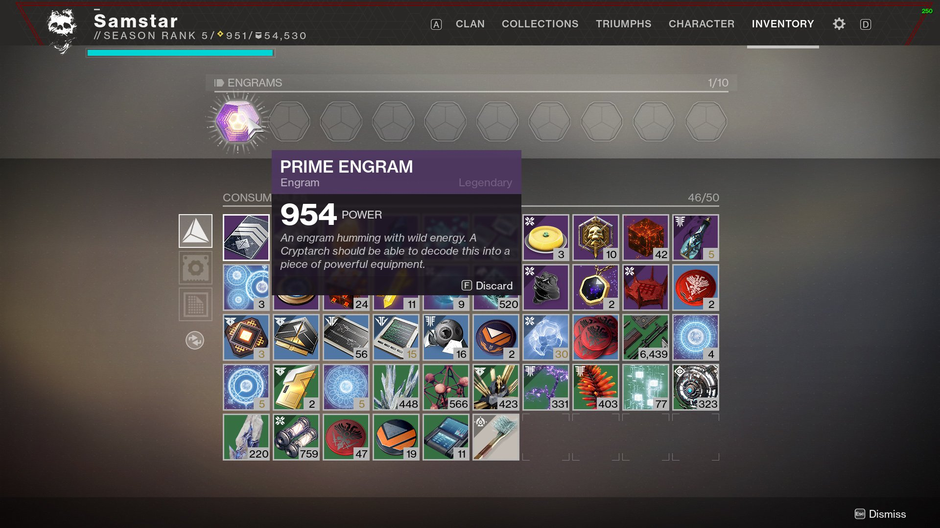 Destiny 2 Prime Engram Exotic source