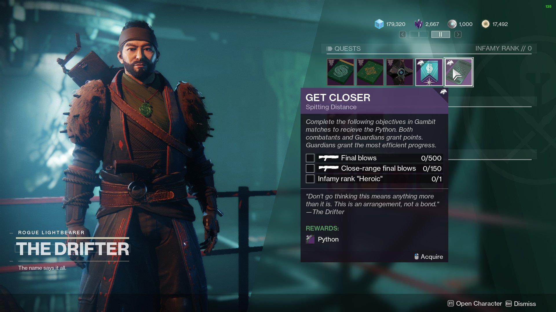 destiny 2 get closer quest