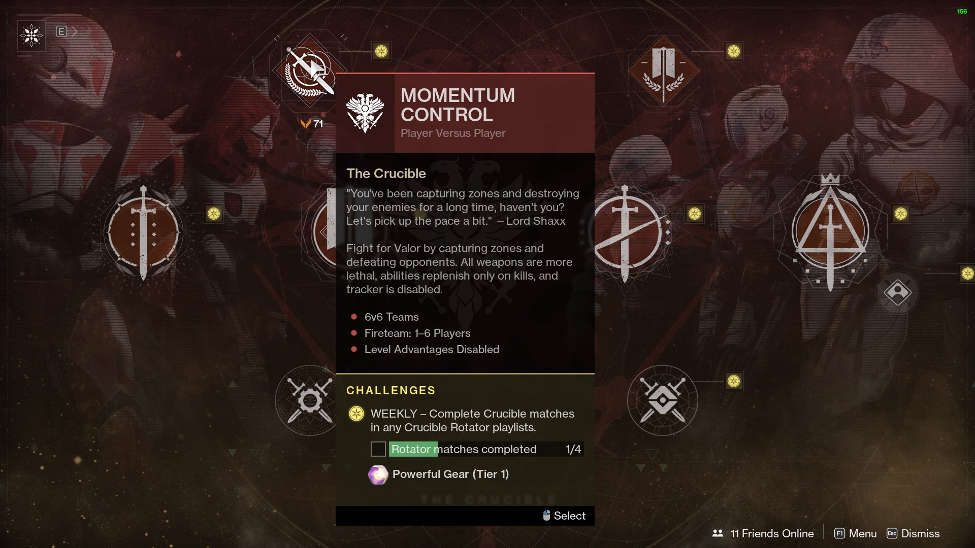 destiny 2 momentum control