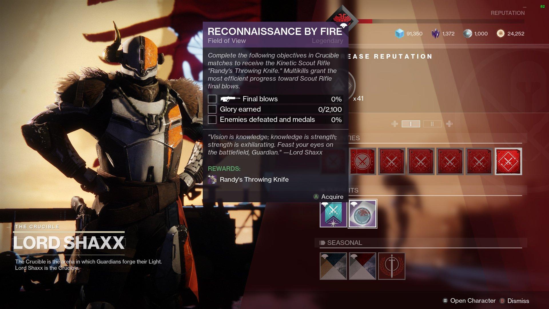 destiny 2 reconnaissance by fire