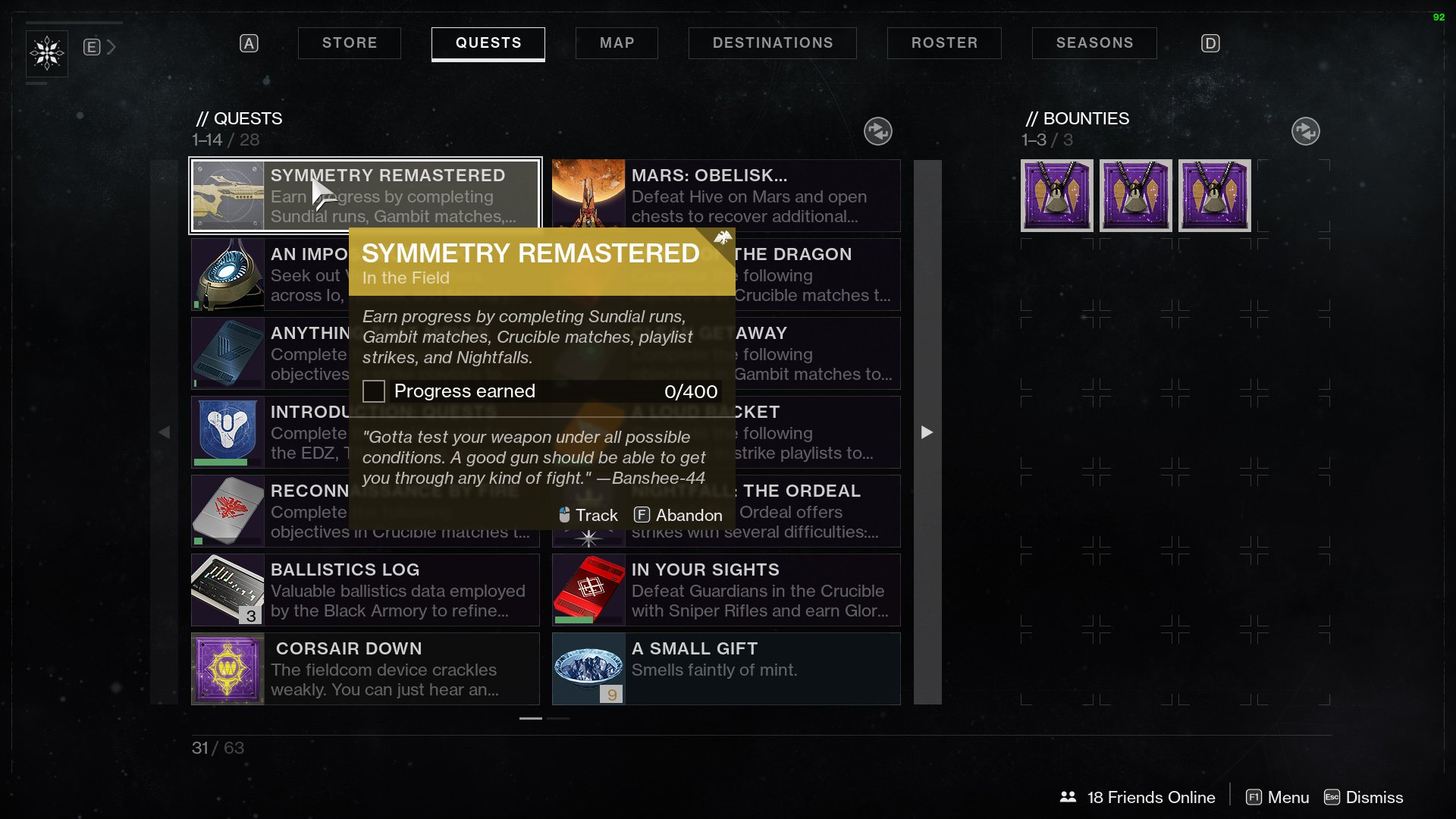 Destiny 2 Symmetry Remastered In The Field