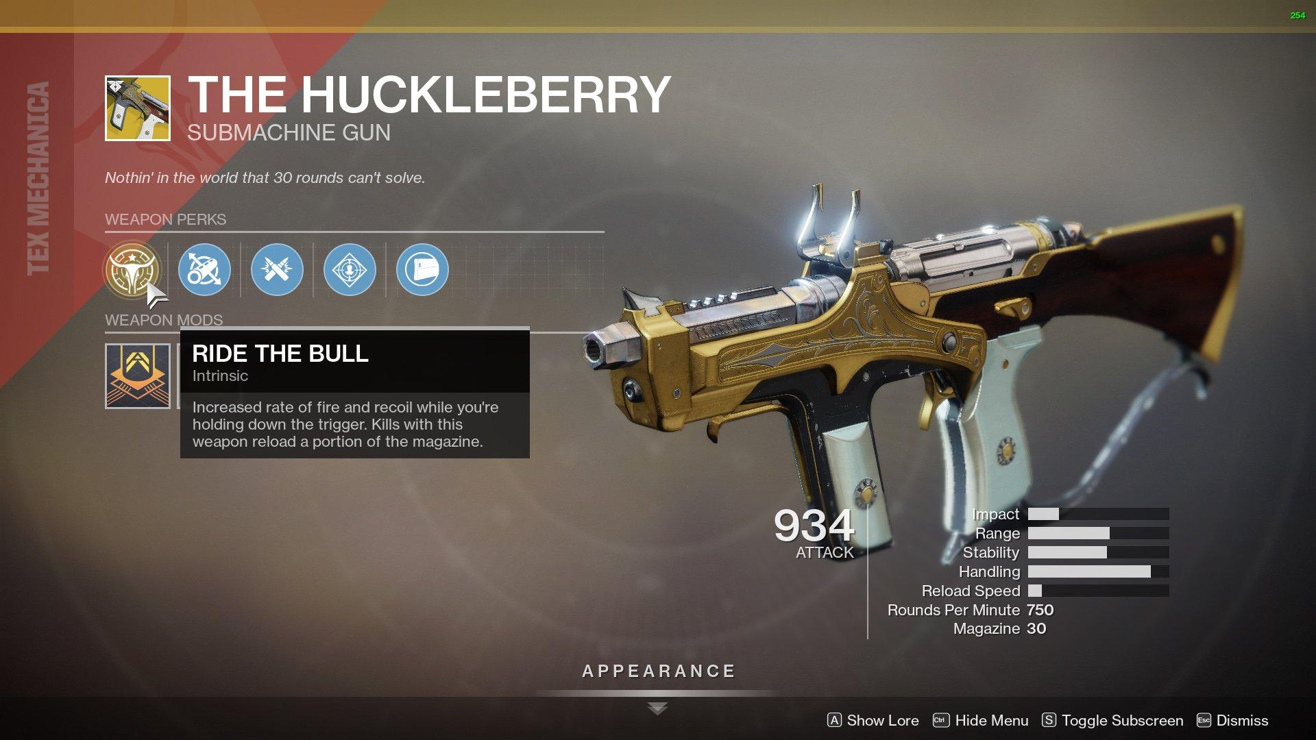 destiny 2 the huckleberry