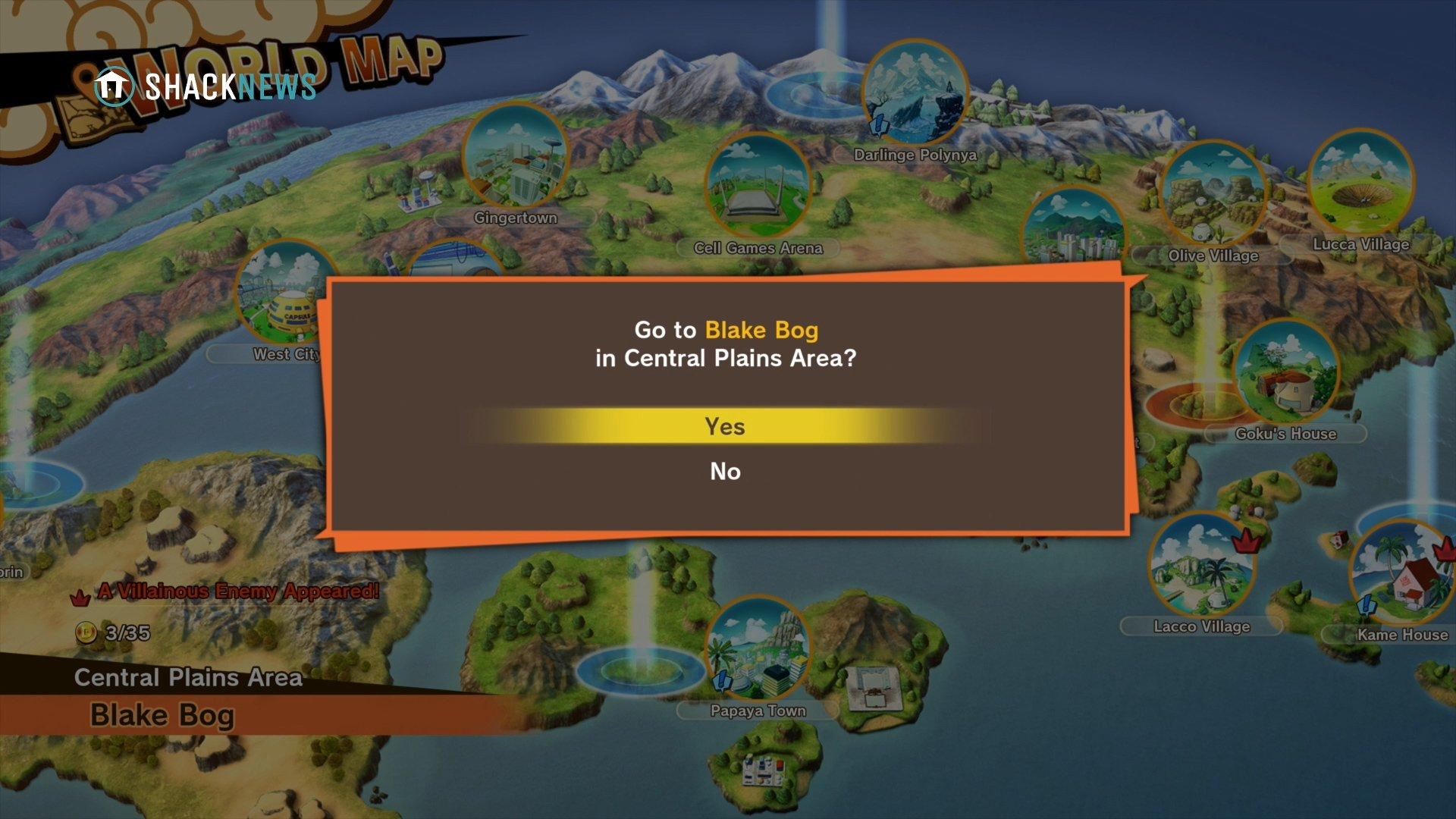 Blake Bog - Dragon Ball Z: Kakarot - Select Beast Meat locations