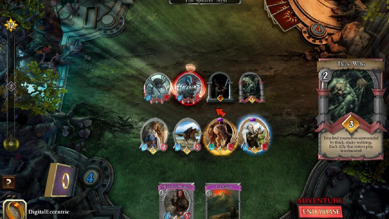 Fantasy Flight Interactive's most notable project was the release of an adaptation of the Lord of the Rings card game.