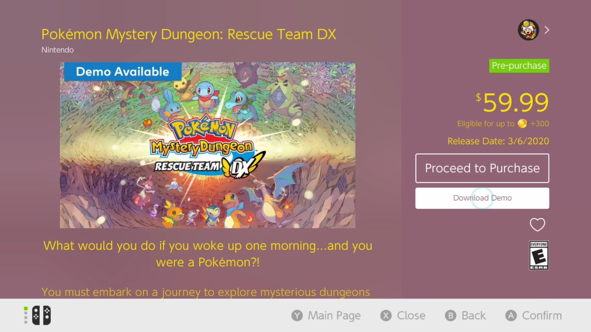 How to download the Pokemon Mystery Dungeon Rescue Team DX demo