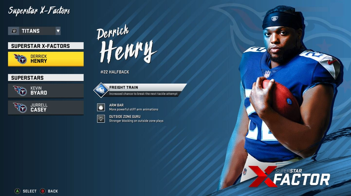 Derrick Henry receives one of the final Superstar X-Factor adjustments of the season.