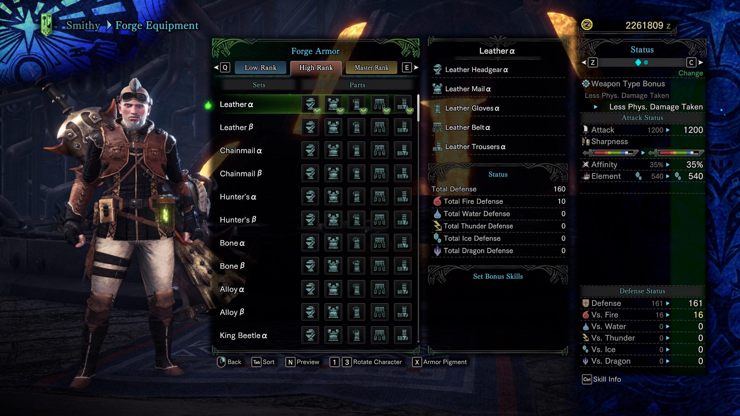 High Rank Armor in Monster Hunter World