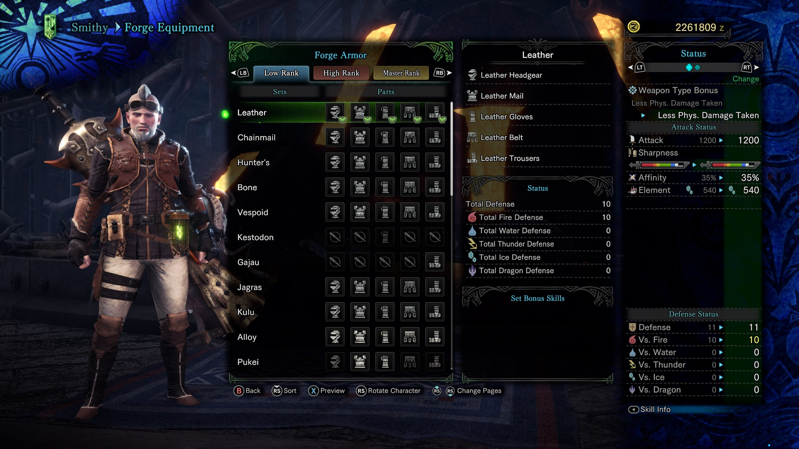 Low Rank Armor sets in Monster Hunter World