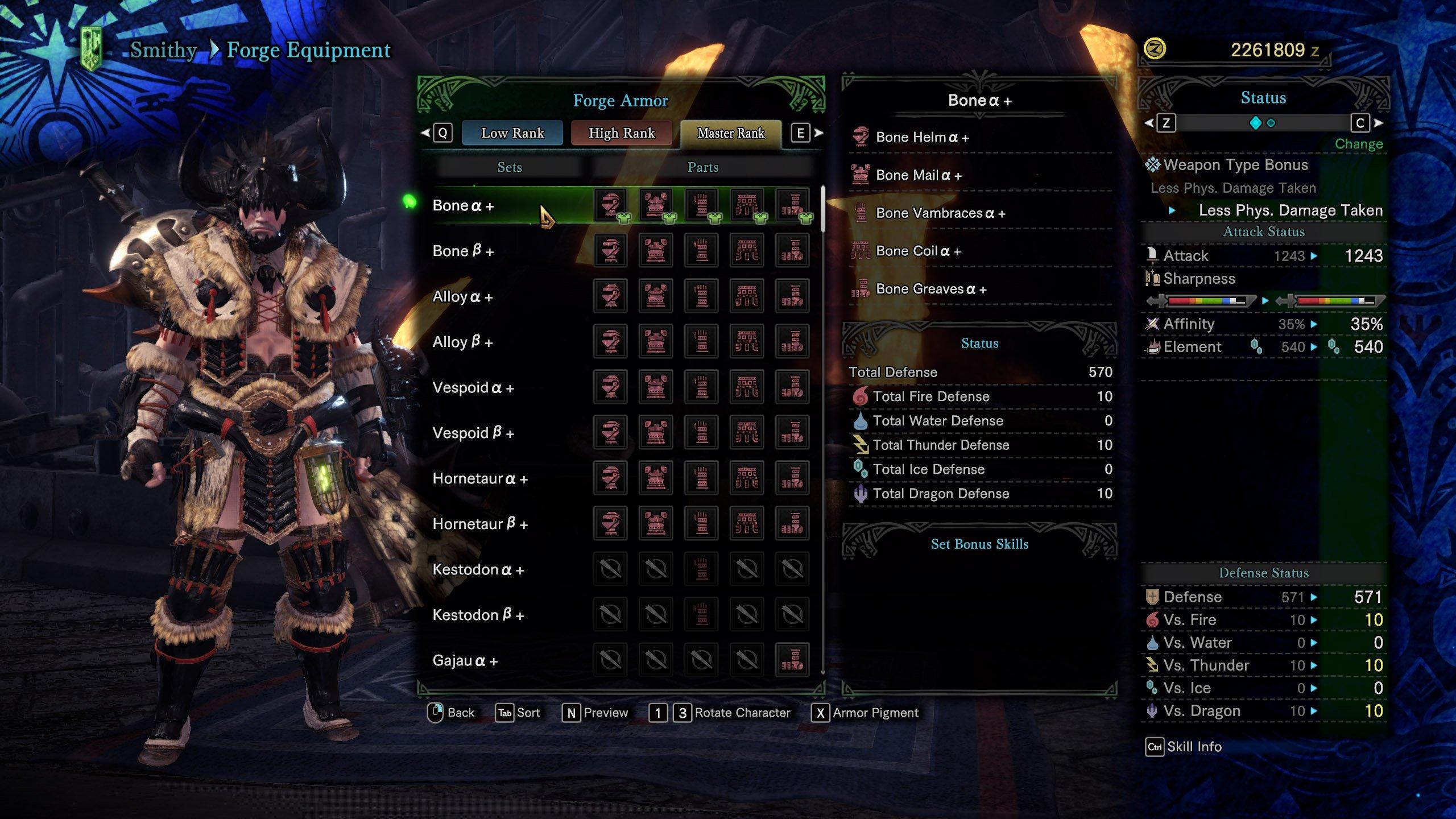 Master Rank Armor in Monster Hunter World