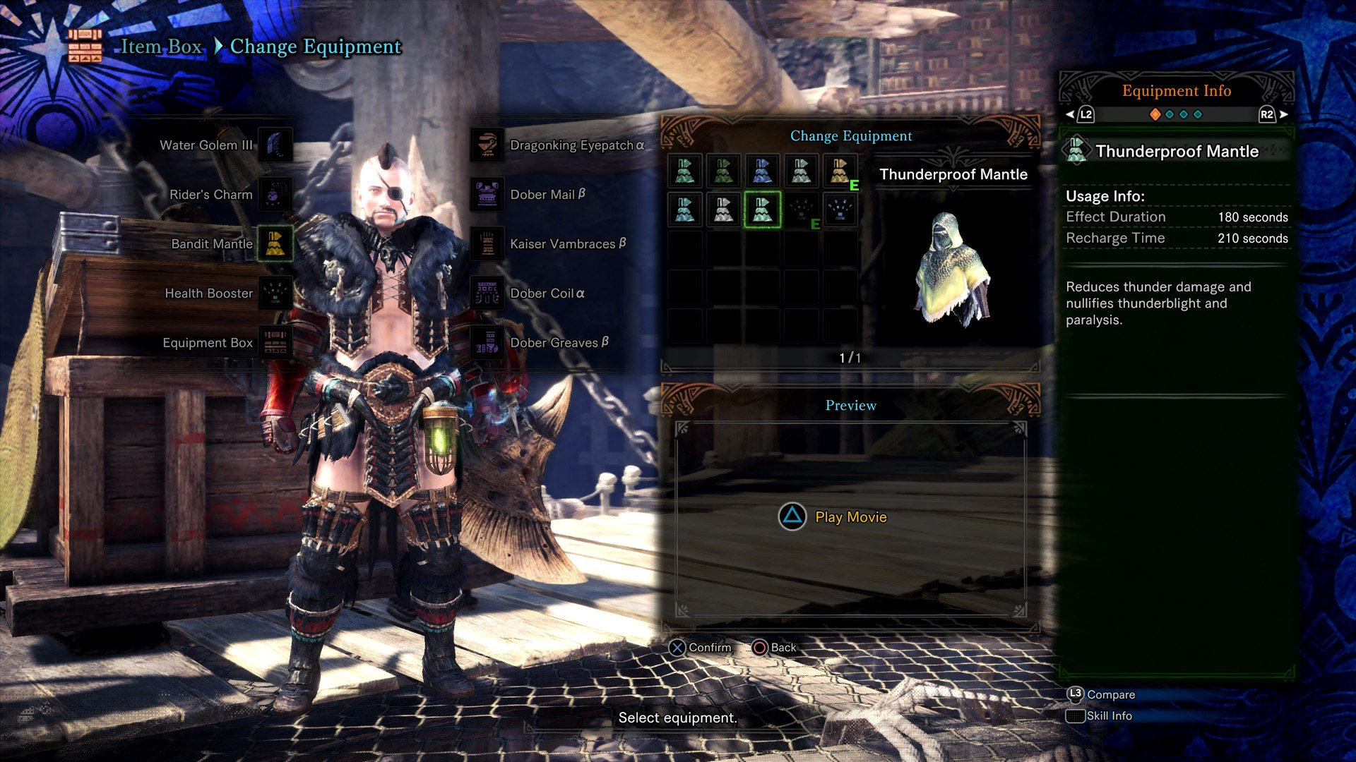 Thunderproof Mantle Monster Hunter World