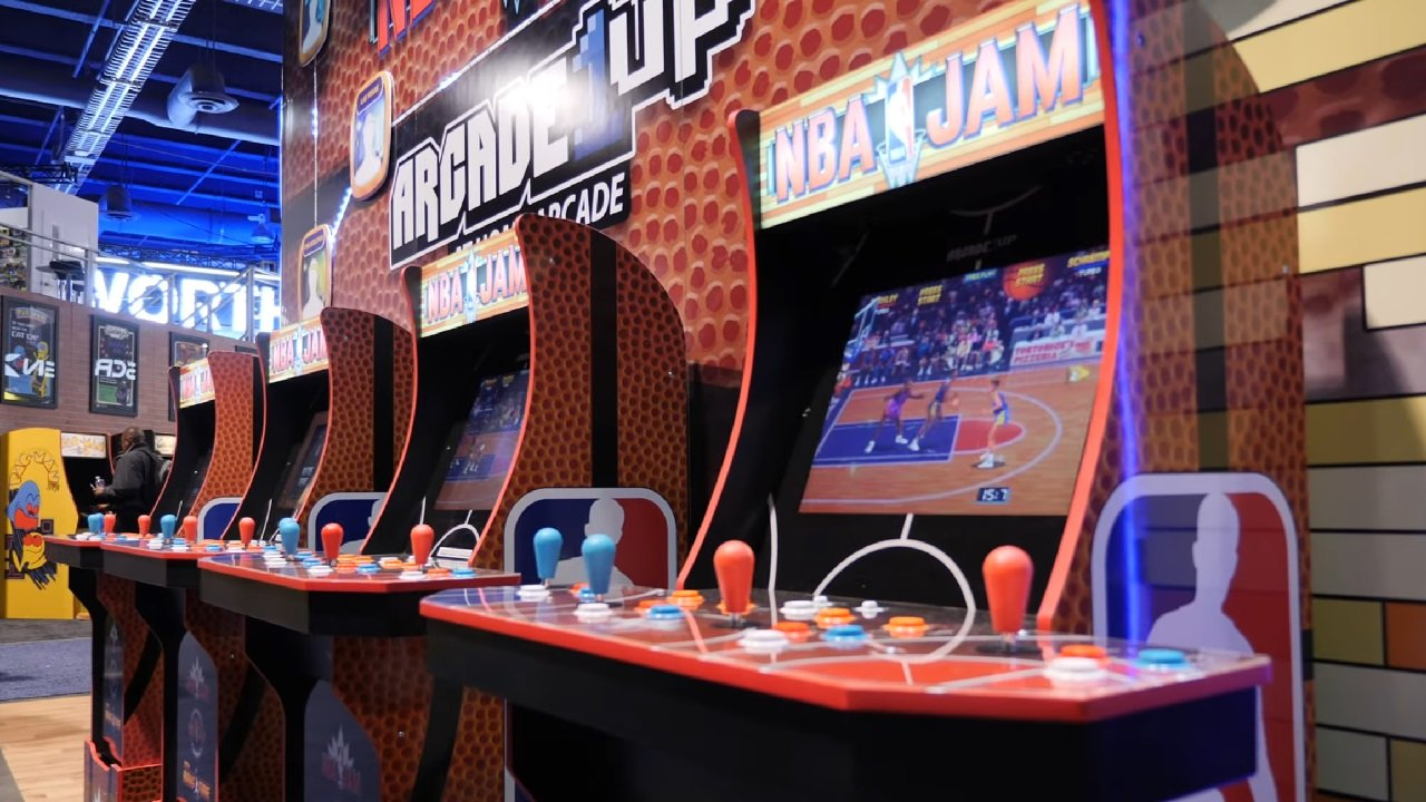 NBA Jam arcade cabinet