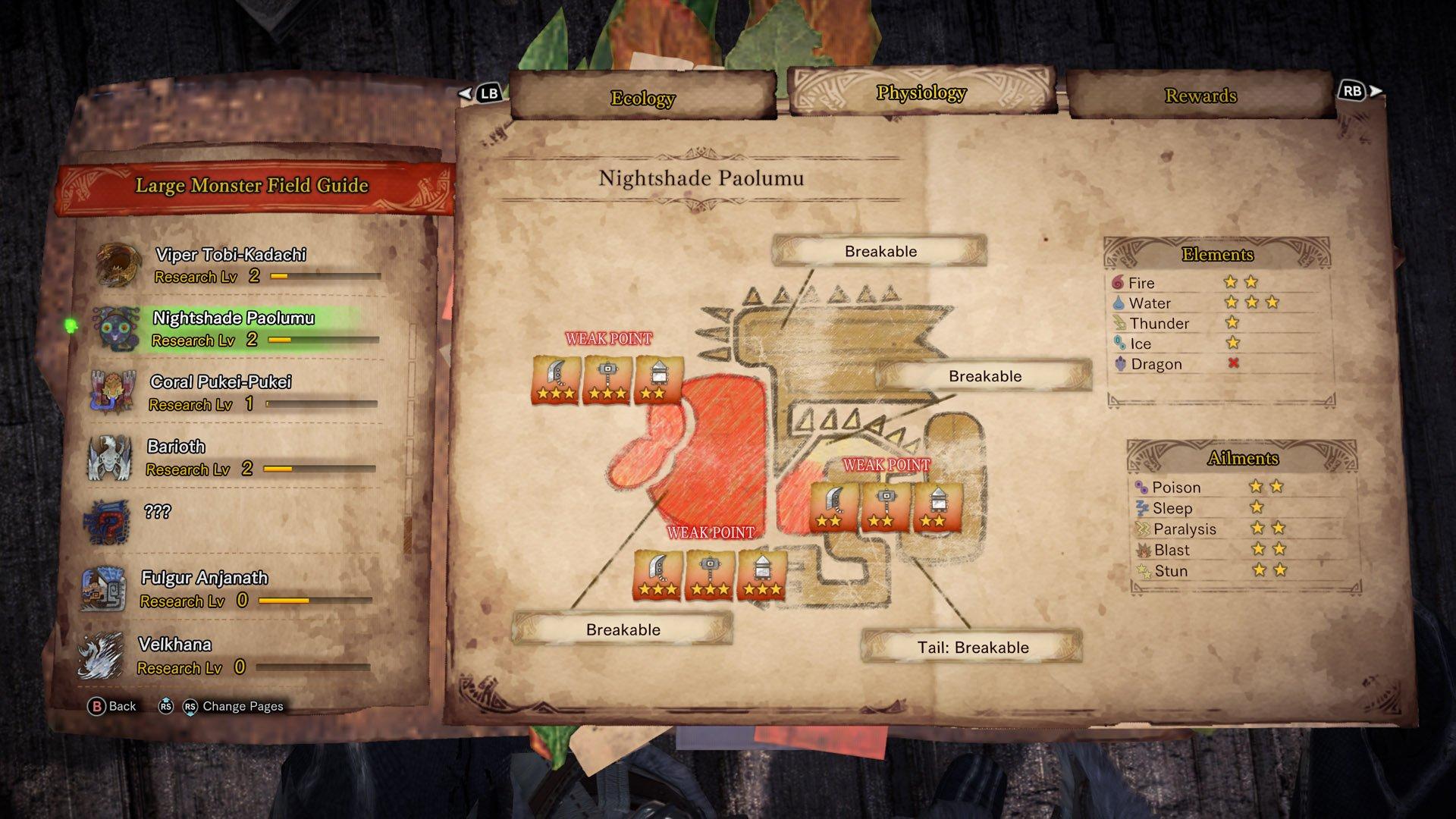 Nightshade Paolumu Weakness Monster Hunter World Iceborne