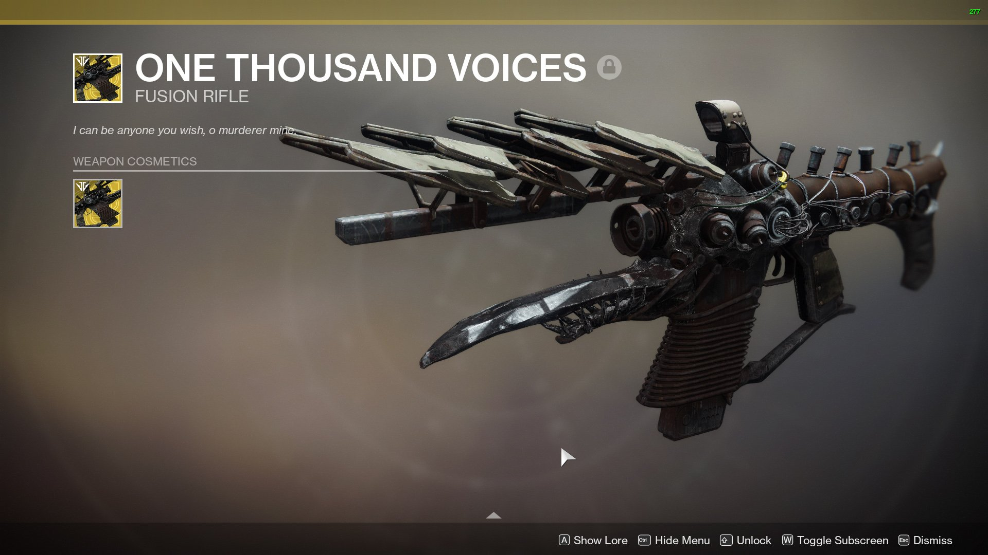 One Thousand Voices ornament One Terrible Scream Destiny 2
