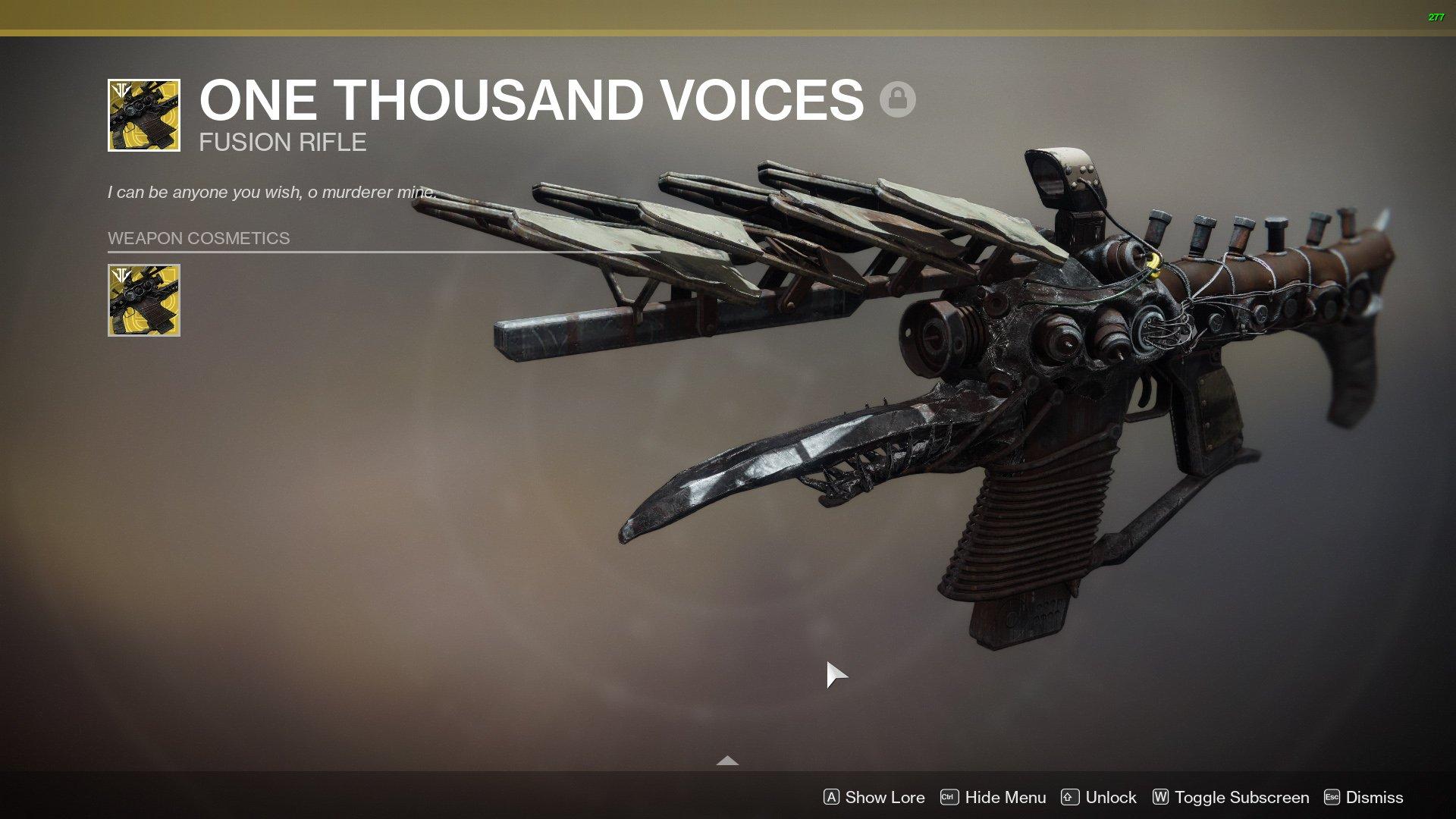 Тысяча Голосов Украшение Одна Ужасная Кричать Судьба 2