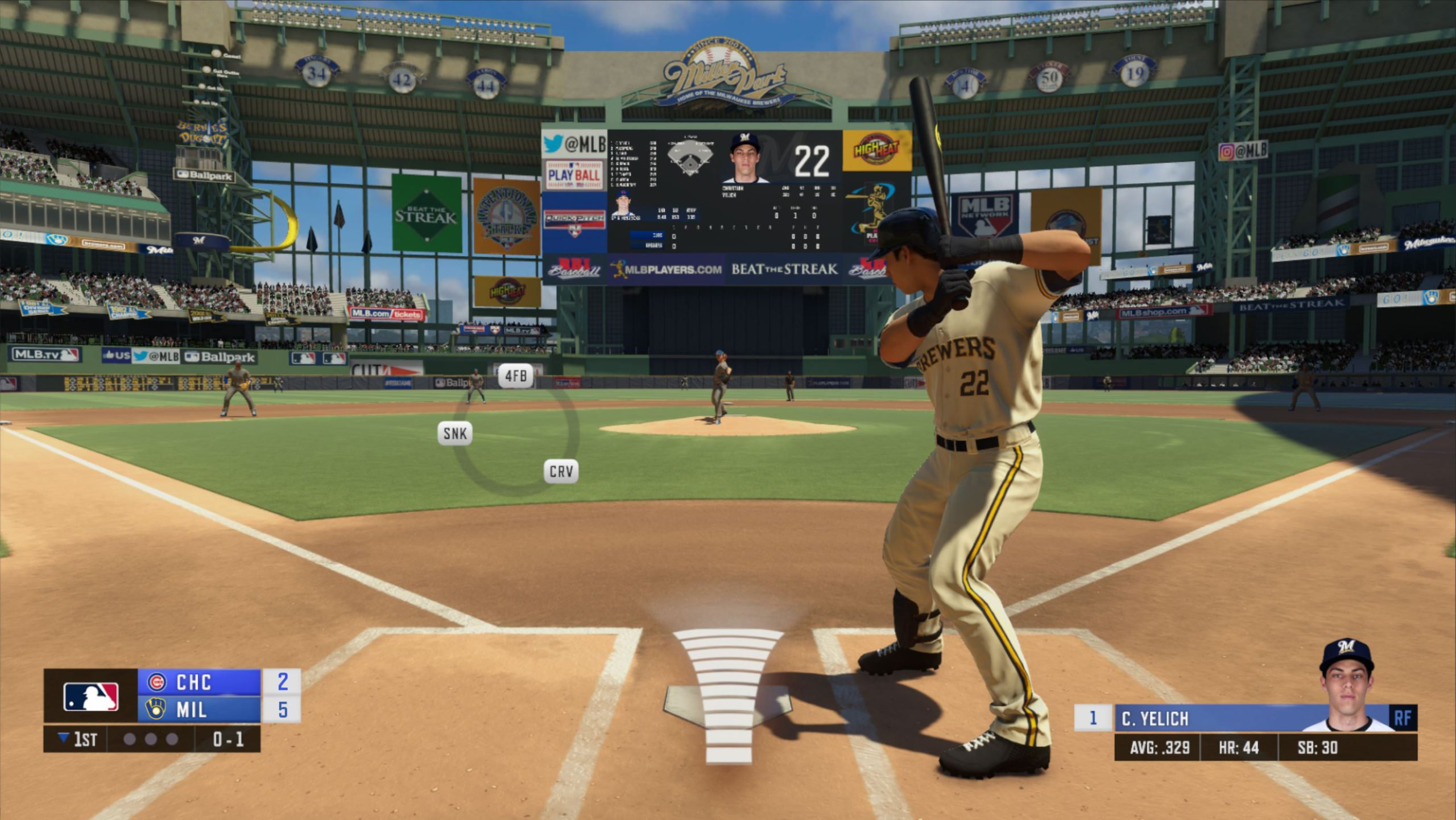 Christian Yelich cover star R.B.I. Baseball 20