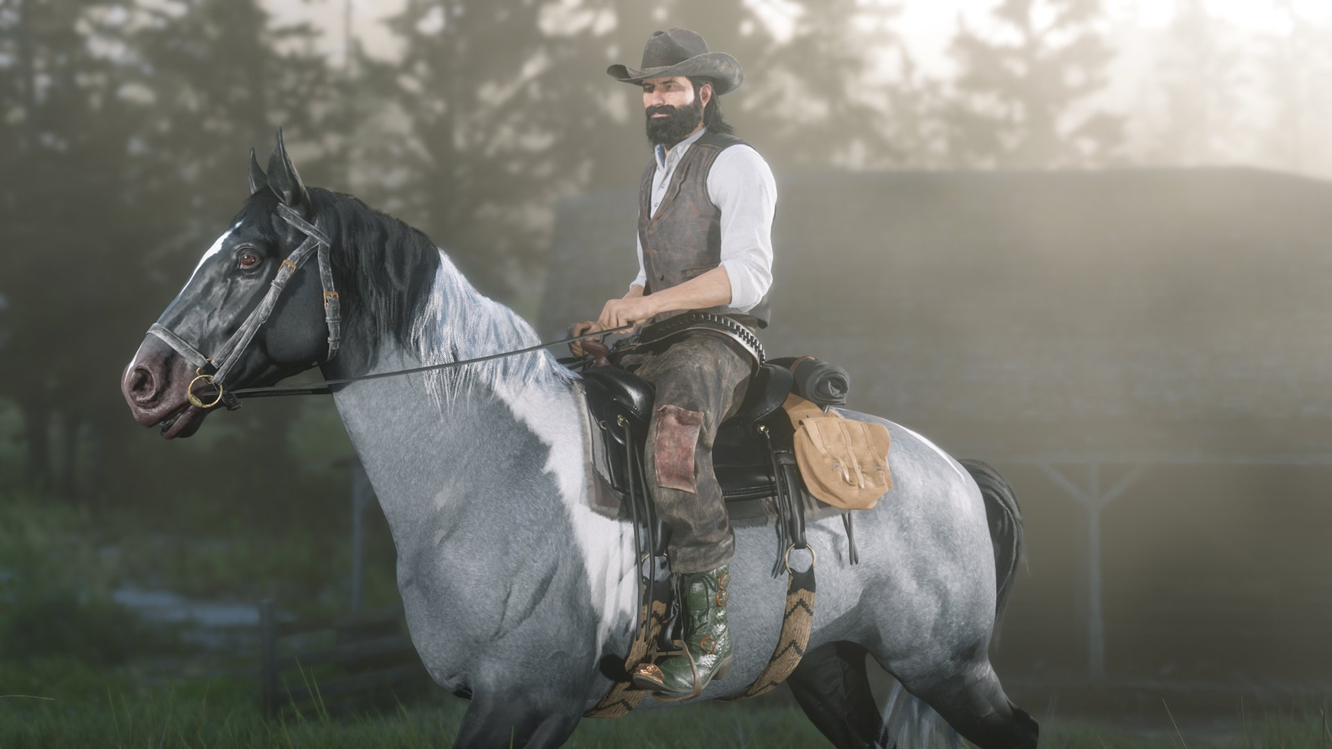Red Dead Online horse and rider
