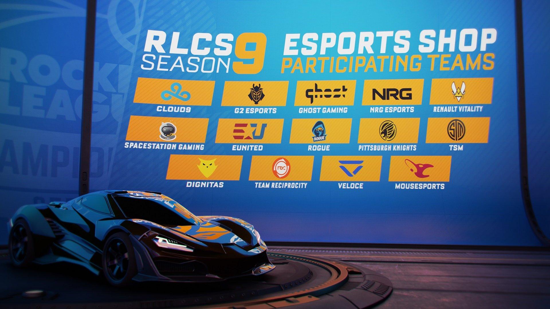 Rocket League Esports Shop