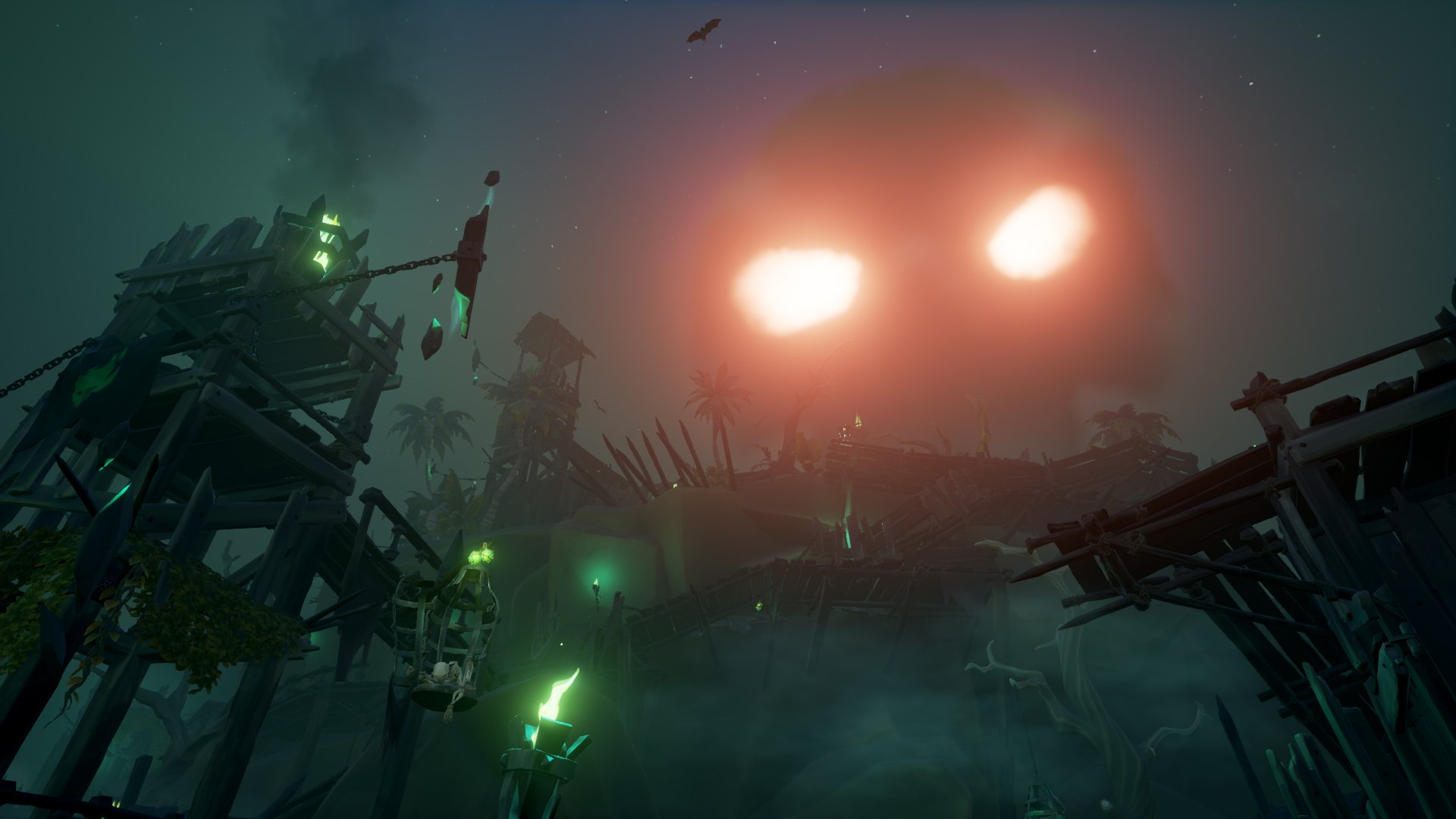 sea of thieves skeleton forts fort of the damned