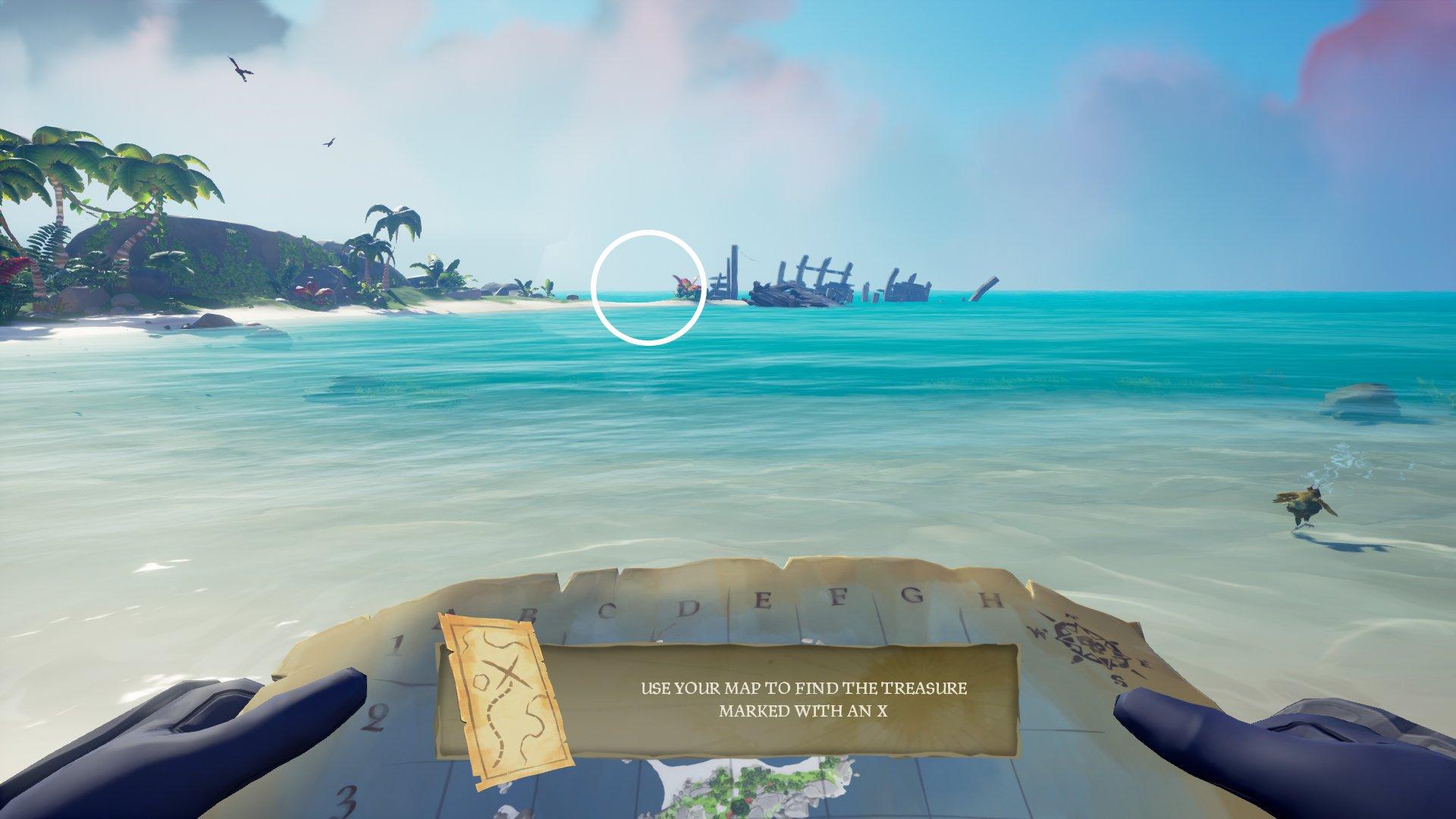 sea of thieves maiden voyage buried treasure location