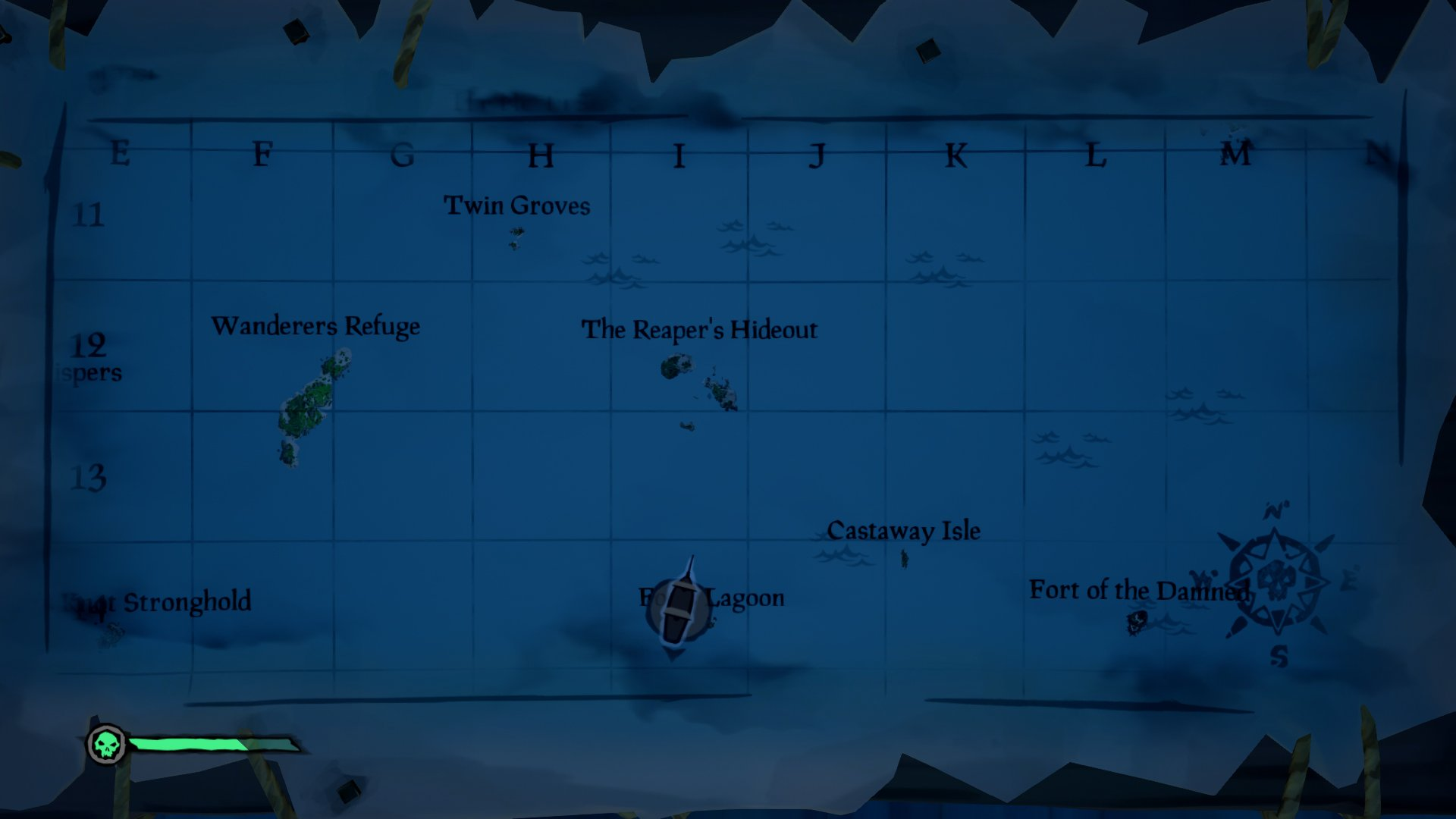 sea of thieves masked stranger location