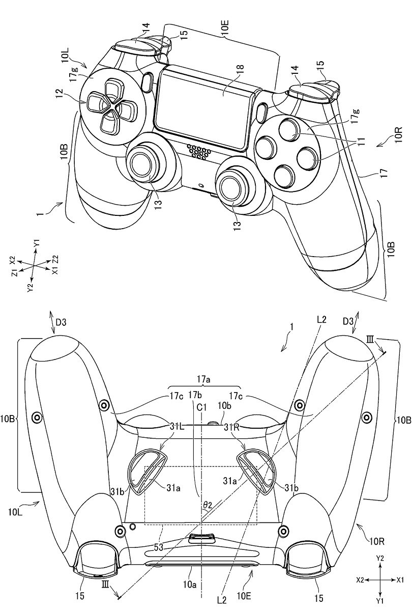 The new PlayStation controller patent isn't substantially different from a regular PS4 controller, barring addition of the back triggers and the removal of the Home button.
