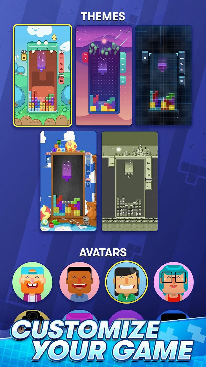N3TWORK's Tetris promises traditional gameplay on mobile devices, but there are a few customization options like gameboard themes and avatars to explore, and more is on the way.