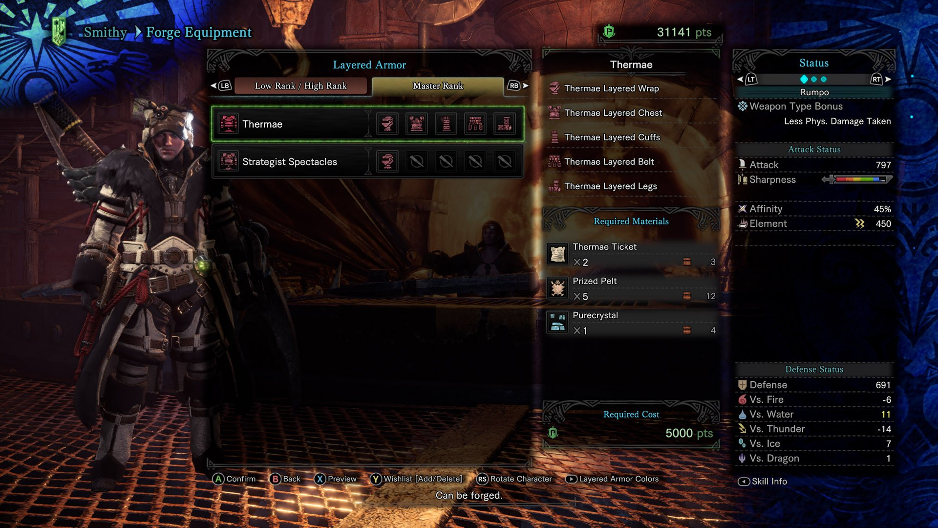 Thermae Layered Armor Monster Hunter World Iceborne