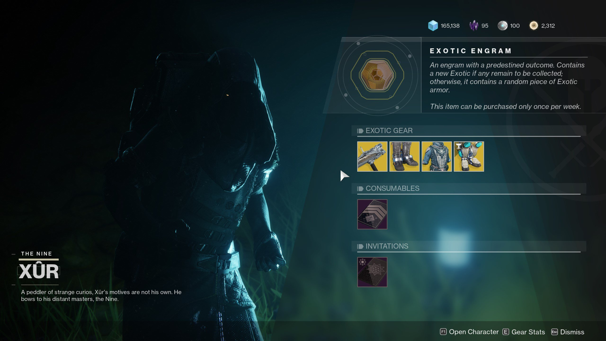 Xur's location and wares - Jan 31
