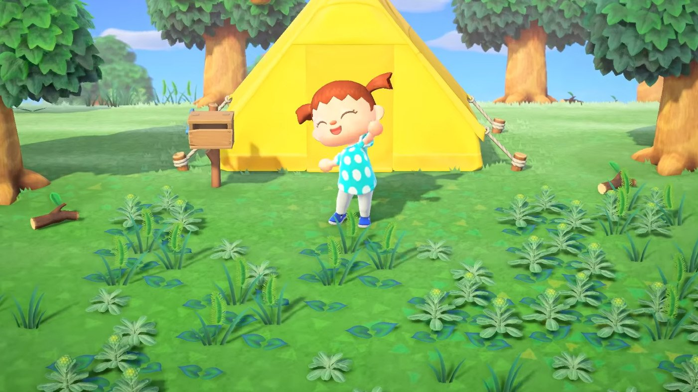 animal crossing new horizons tent location