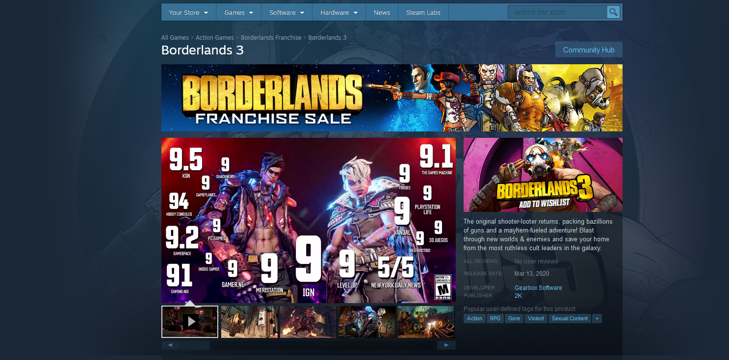 Borderlands 3 is finally coming to Steam on March 13.