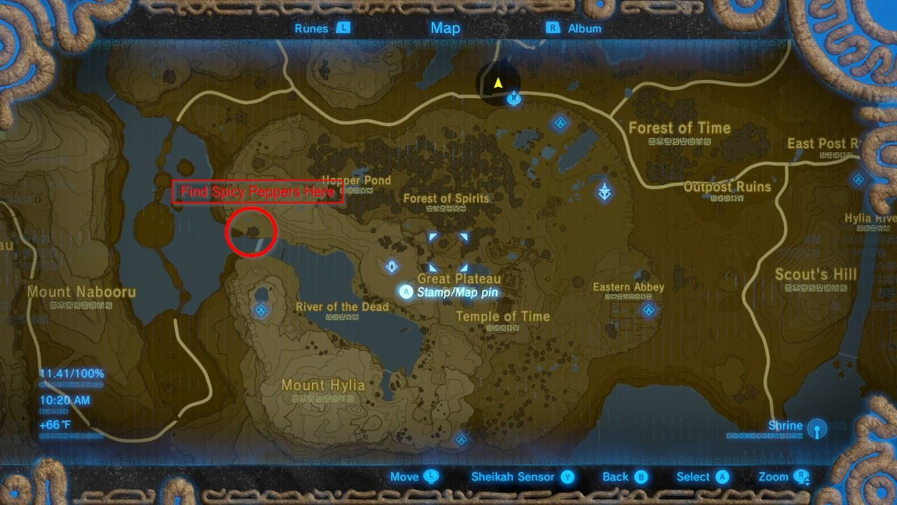 Spicy Pepper location - BoTW