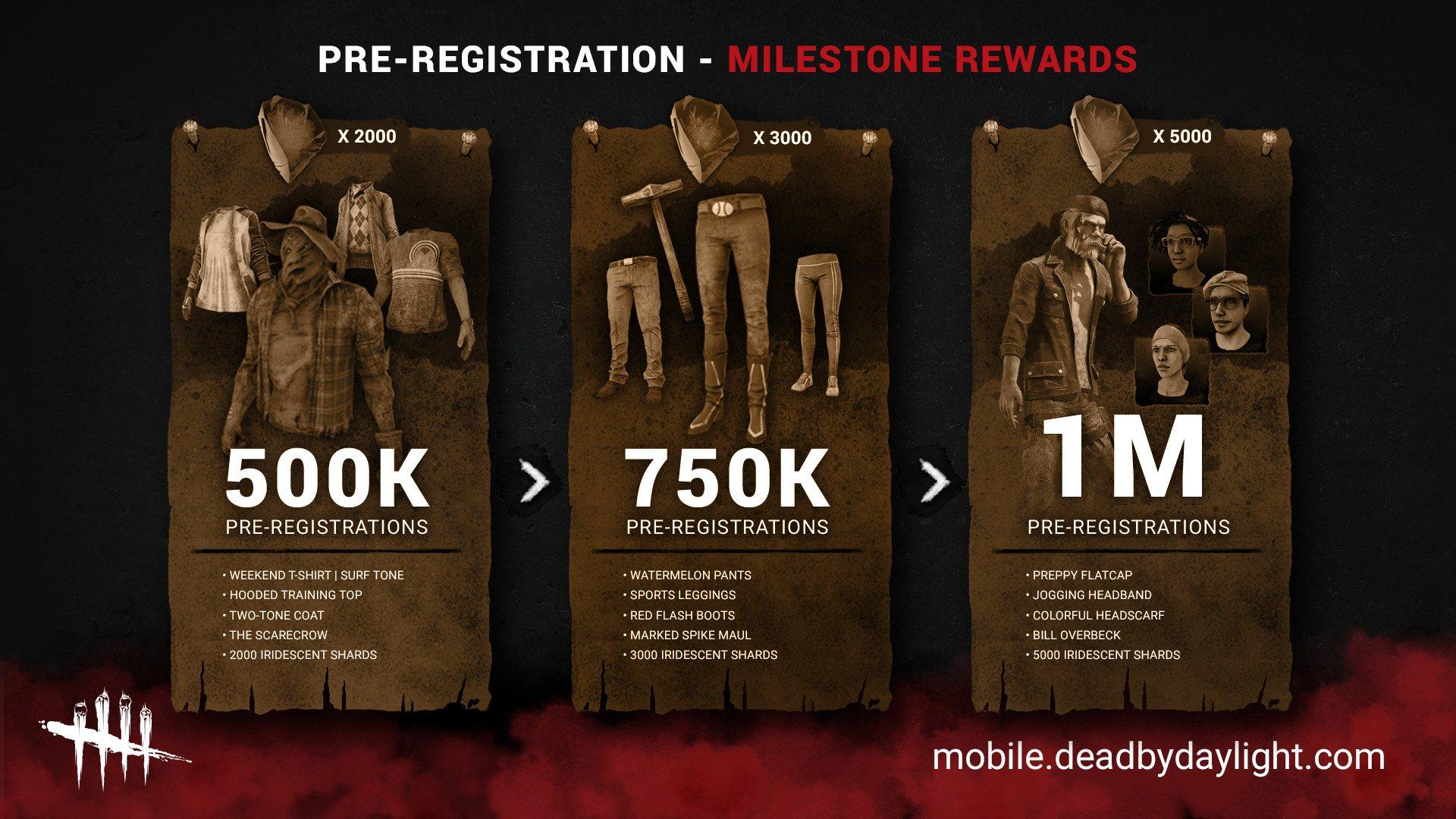 Dead by Daylight Mobile pre-registration rewards