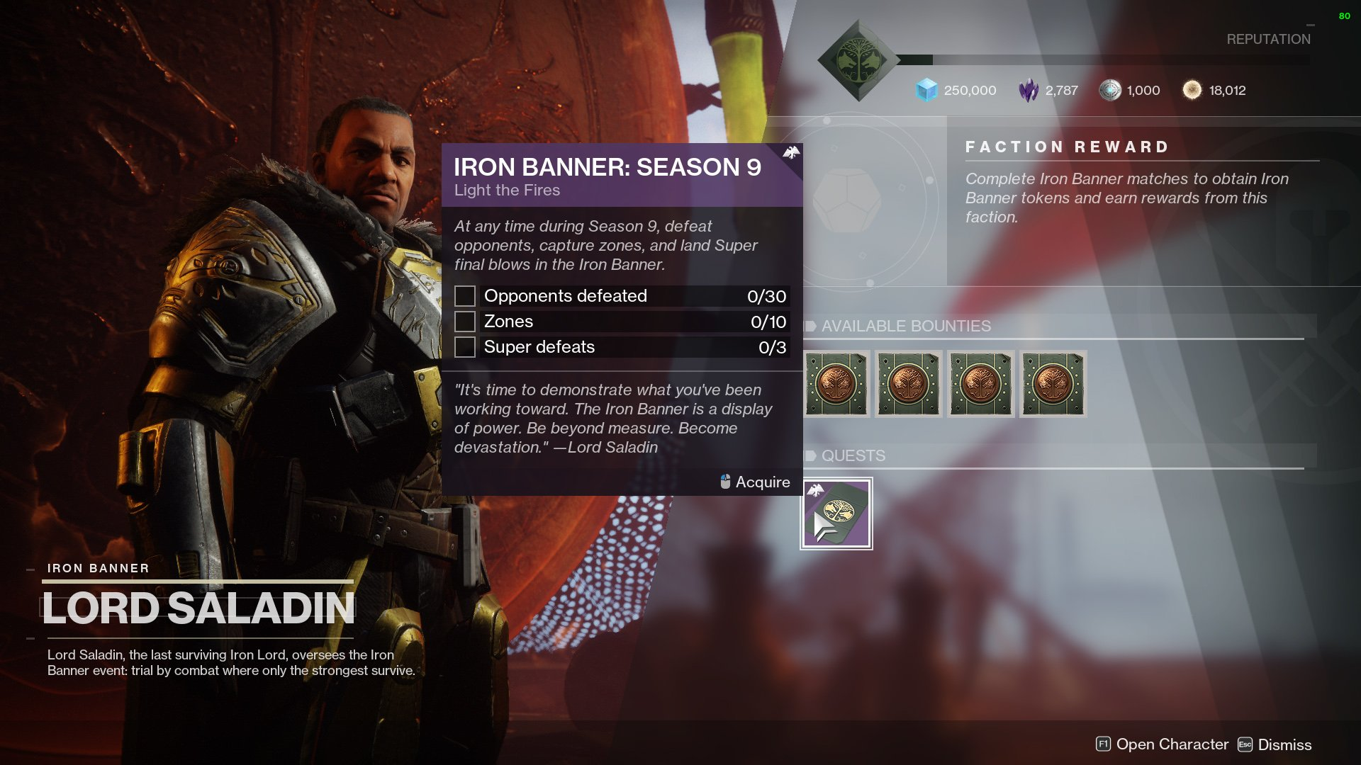 iron banner season 9 quest destiny 2
