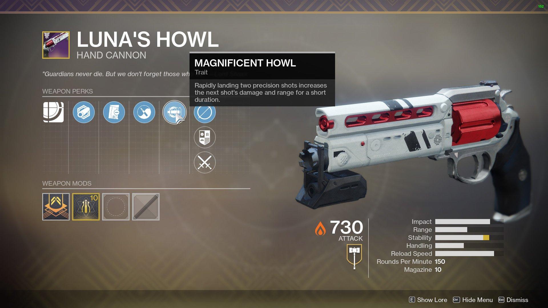Destiny 2 Luna's Howl