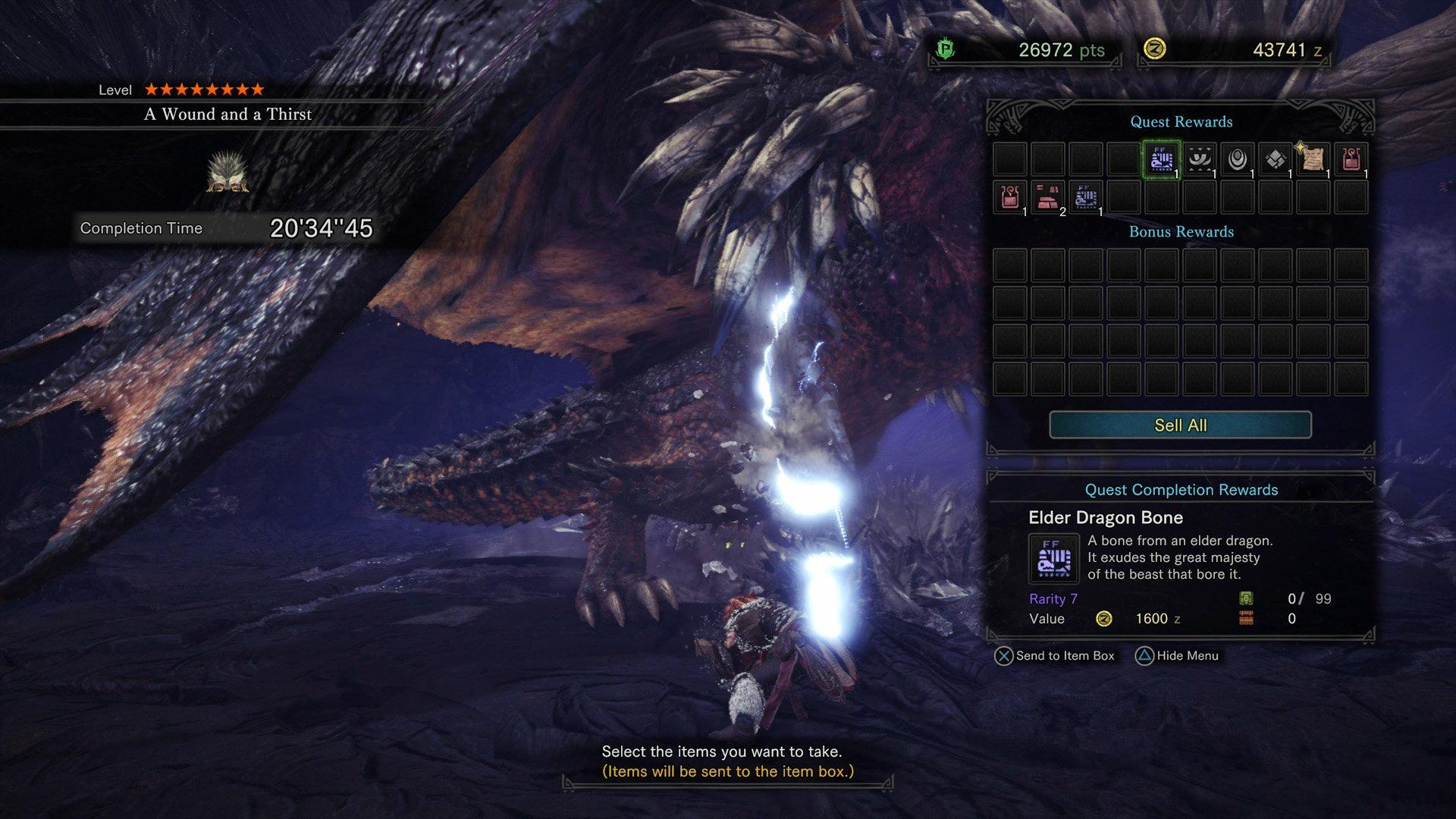 Elder Dragon Bone Monster Hunter World