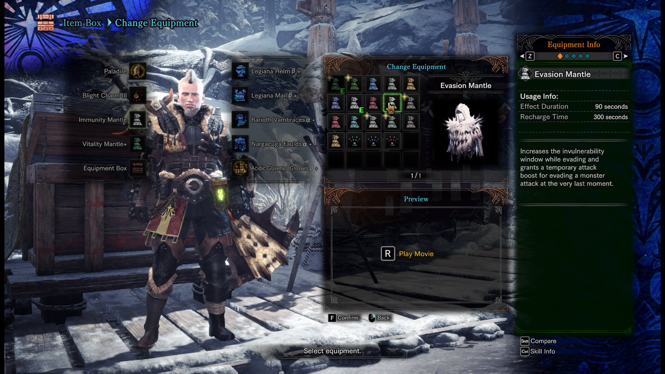 Evasion Mantle Monster Hunter World